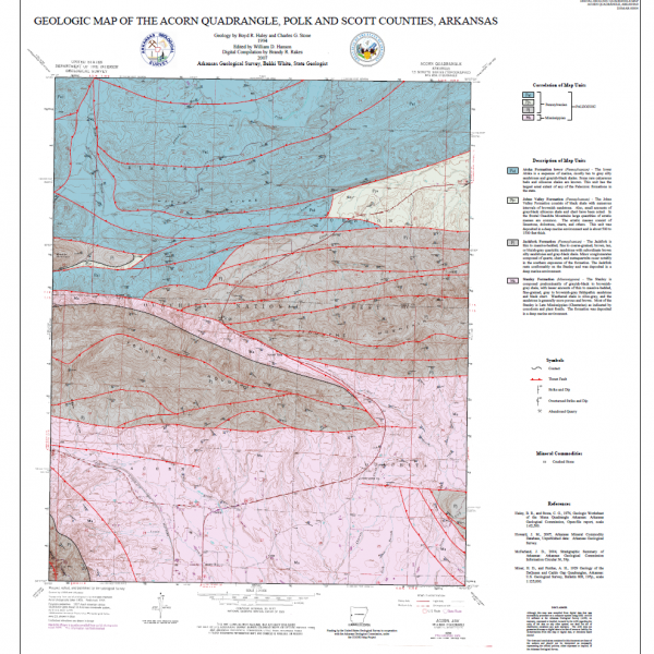 Arkansas Geological Survey Maps
