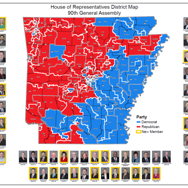 House of Representatives District Map (90th General Assembly: 2015)