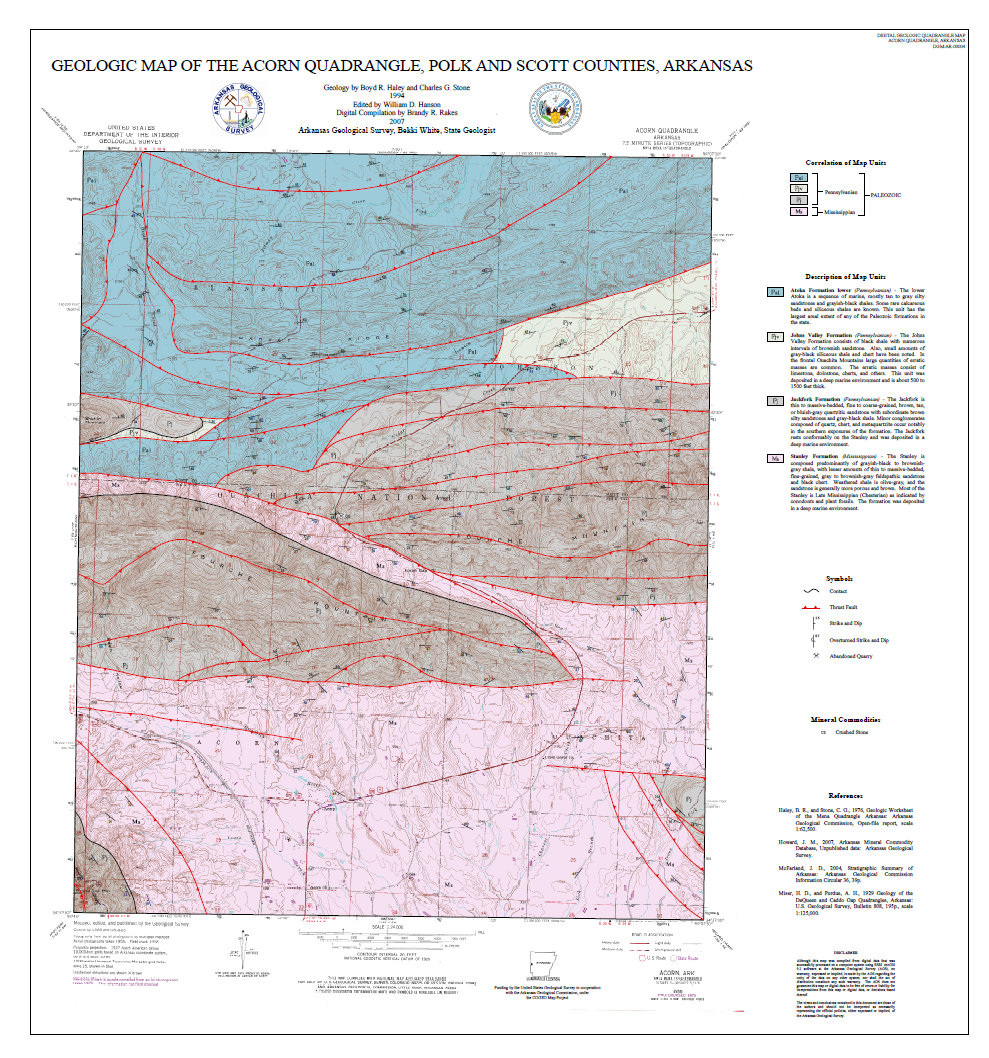 Arkansas Geological Survey Maps  Arkansas GIS Office
