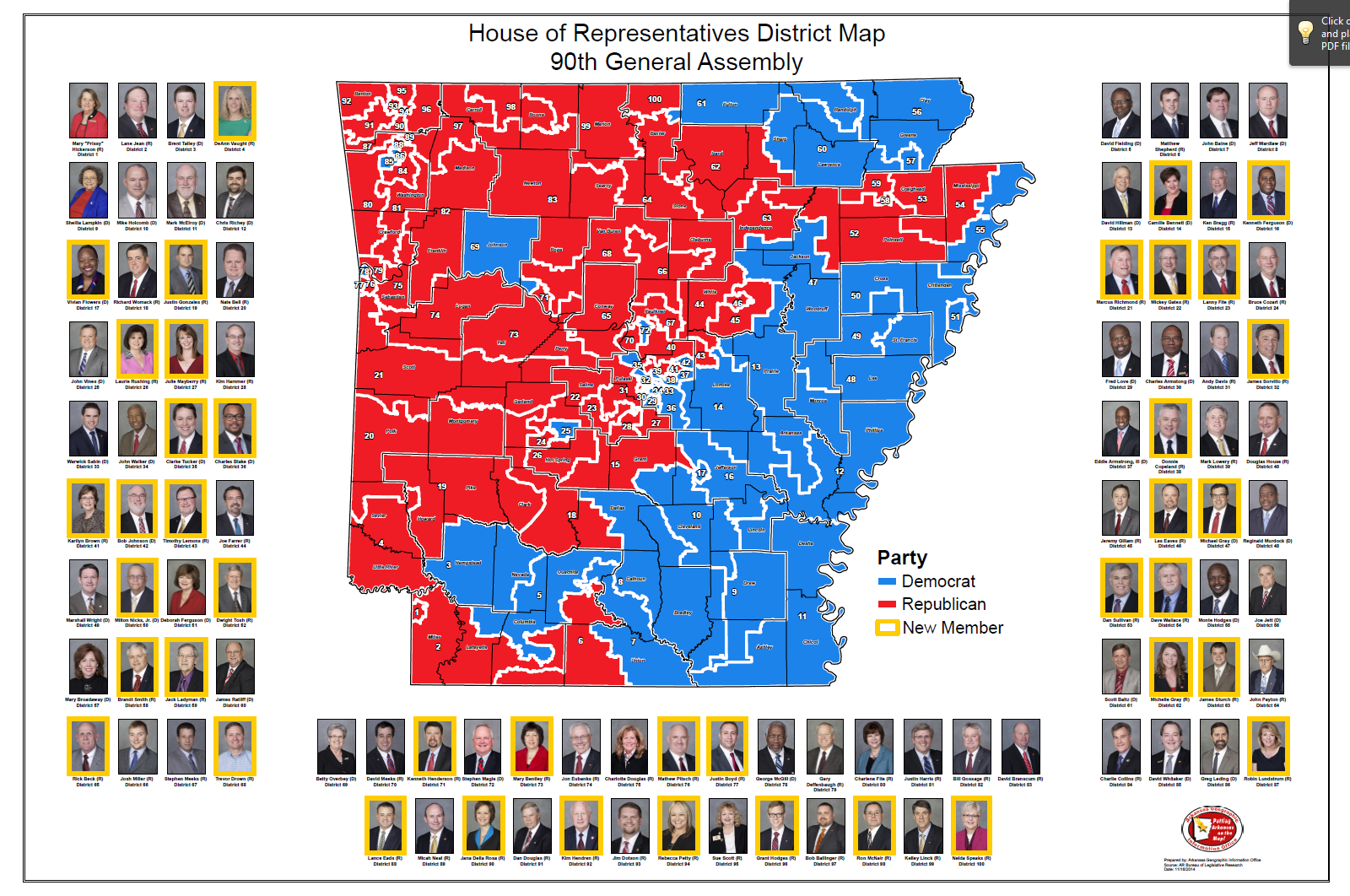 Read More House Of Representatives District Map 90th General Assembly 2015