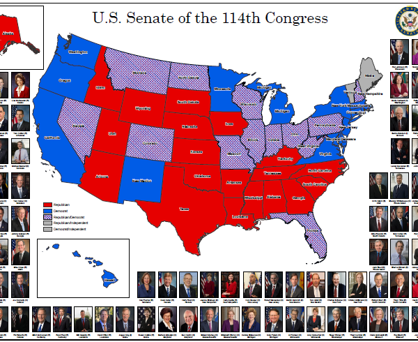 U.S. Senate District Map (114th Congress: 2015)